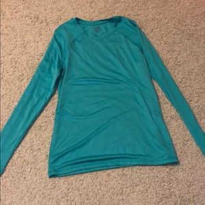 Solid Teal long sleeve workout tee